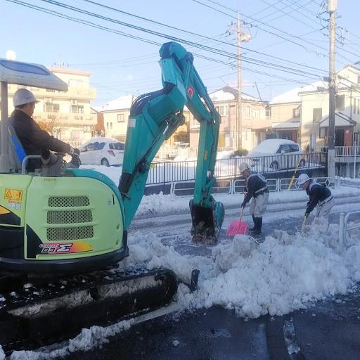 八王子市内除雪作業